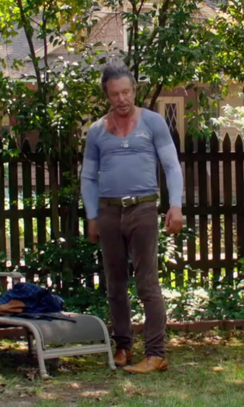 Mickey Rourke with Dsquared2 Casual Pants in Ashby