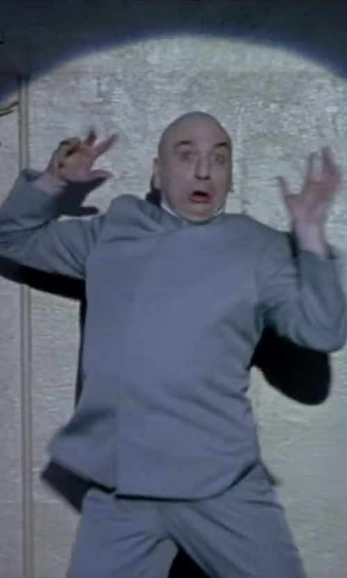 Mike Myers with WMU Poly-Blend Deluxe Dr. Evil Costume in Austin Powers in Goldmember