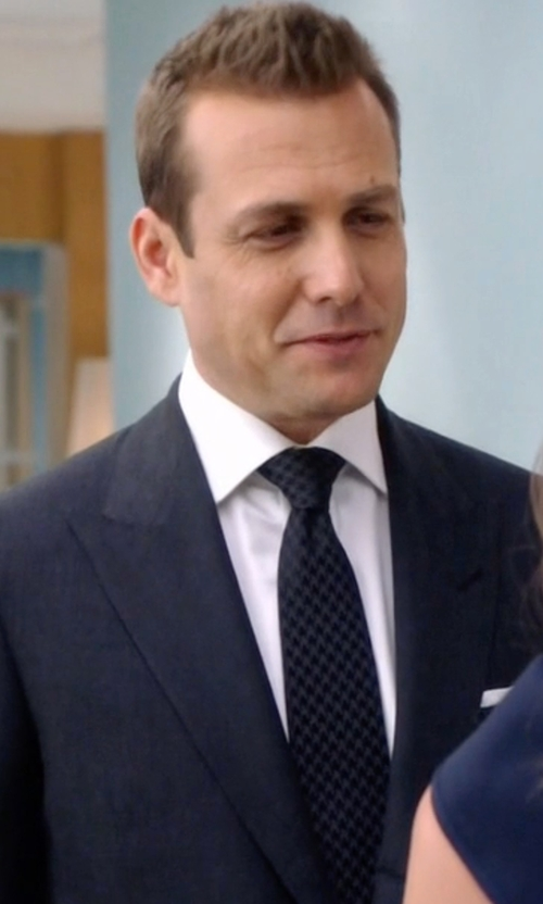 Gabriel Macht with Tom Ford Oversized Houdstooth Classic Silk Tie in Suits