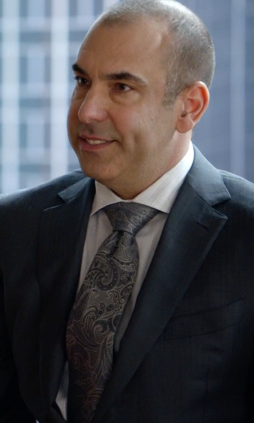 Rick Hoffman with Canali Light Plaid Dress Shirt in Suits