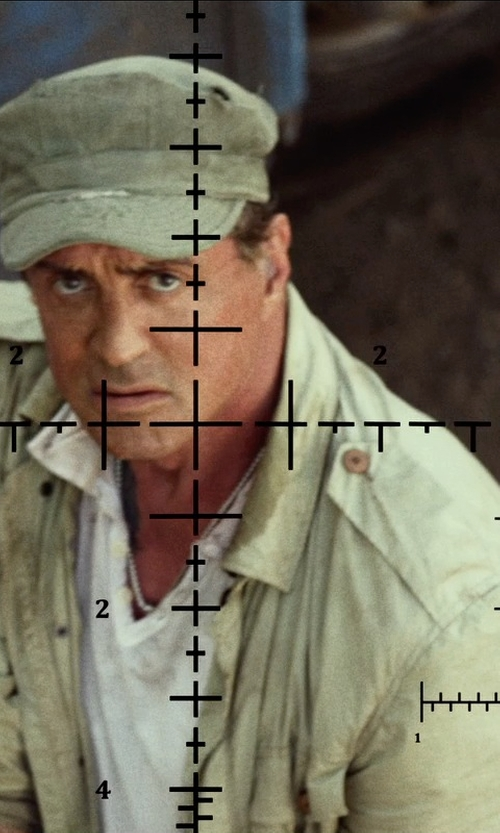 Sylvester Stallone with Propper Fr Acu Coat in The Expendables 3
