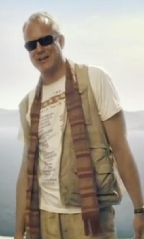 Stellan Skarsgård with McQ Alexander McQueen Short Sleeve T-Shirt in Mamma Mia!
