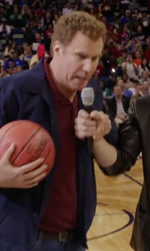 Will Ferrell with Boss 'Firenze' Regular Fit Piqué Polo Shirt in Daddy's Home