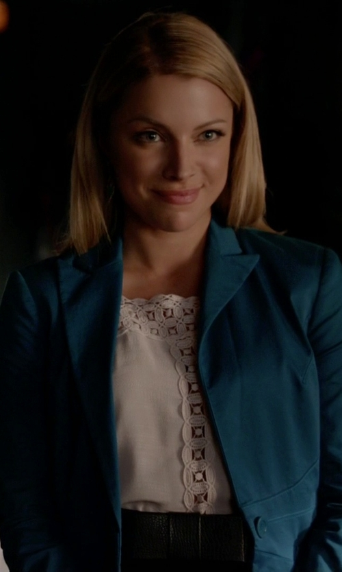 Teressa Liane with J.Crew Campbell Blazer In Italian Stretch Wool in The Vampire Diaries