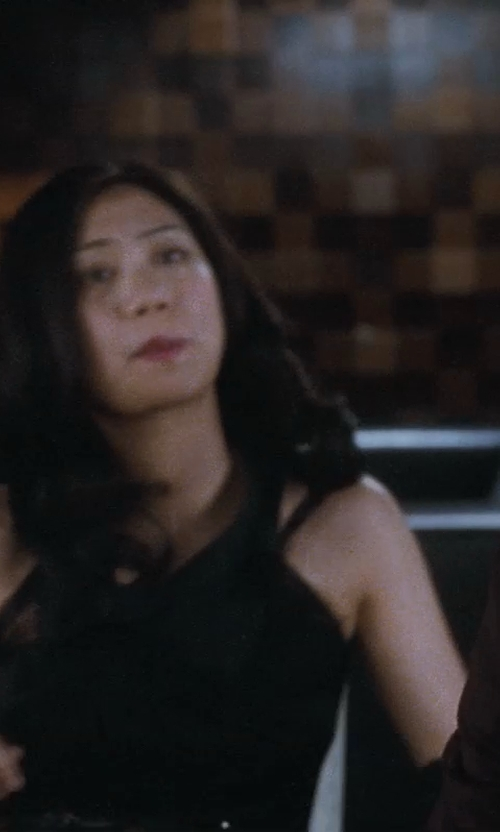 Liza Lapira with Urban Outfitters Kimchi Blue Crinkle One-Shoulder Dress in Crazy, Stupid, Love.