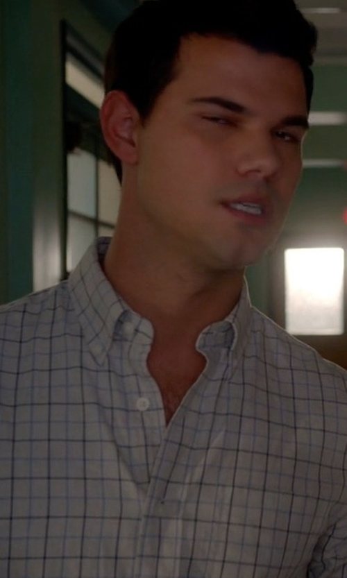 Taylor Lautner with Tom Ford Tattersall Check Dress Shirt in Scream Queens