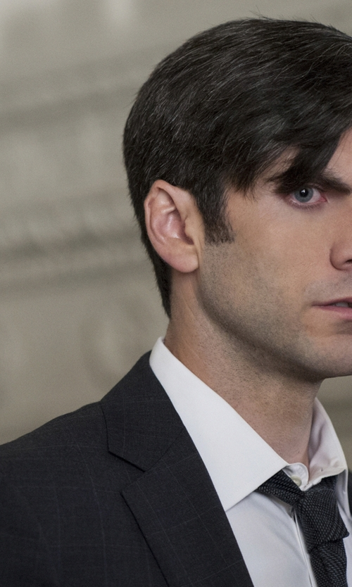Wes Bentley with Marc Anthony Shadow-Checked Wool Suit Jacket in American Horror Story