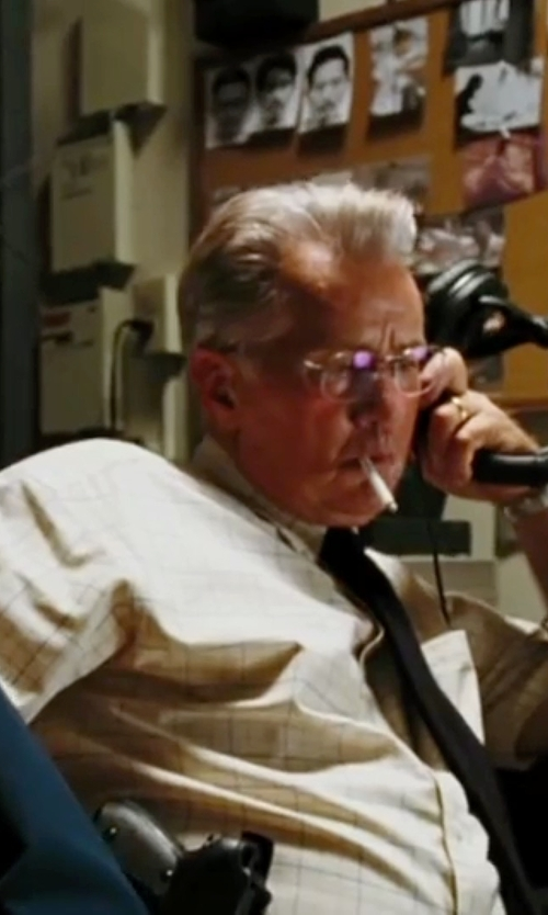 Martin Sheen with Dsquared2 Rimless Designer Eyeglasses in The Departed