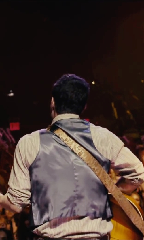 Adam Levine with Levy's Leathers Jacquard Weave Hootenanny Guitar Strap in Begin Again