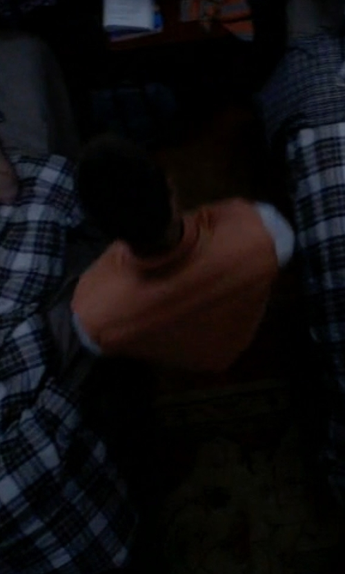 Glen Powell with Brooks Brothers Red Fleece Quilted Vest in Scream Queens
