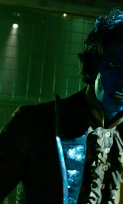 Kodi Smit-McPhee with Edge By WD.NY Glenn Plaid Two Button Faux Leather Notch Lapel Sport Coat in X-Men: Apocalypse