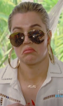 Khloe Kardashian with Oliver Peoples Benedict Mirror Aviator Sunglasses in Keeping Up With The Kardashians