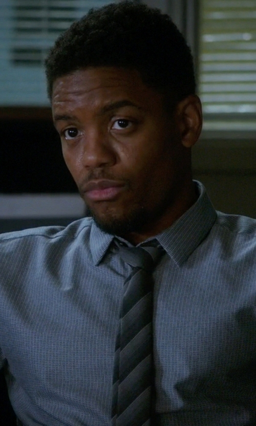 Jon Michael Hill with Marc Anthony Striped Tie in Elementary