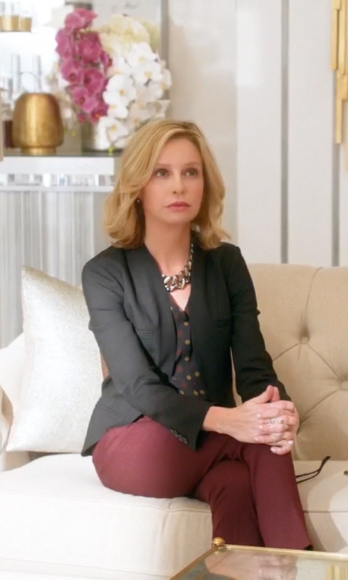 Calista Flockhart with Blaque Label Noir Blazer in Supergirl