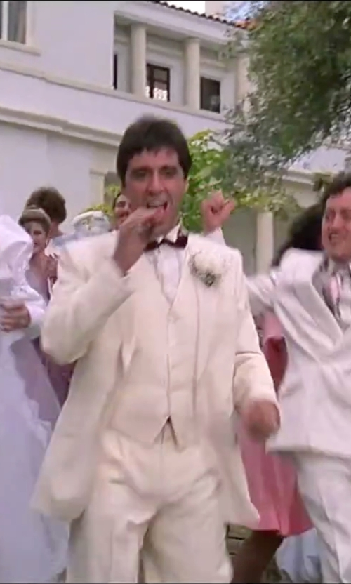 Al Pacino with Ryan Seacrest Distinction Shimmer Solid Bow Tie in Scarface