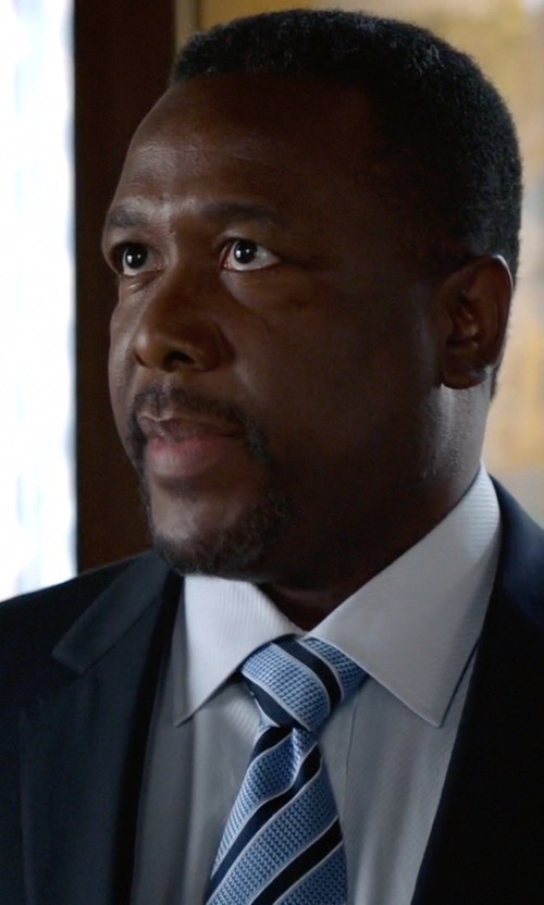 Wendell Pierce with Hugo Boss Slim Fit Textured Tuxedo Shirt in Suits
