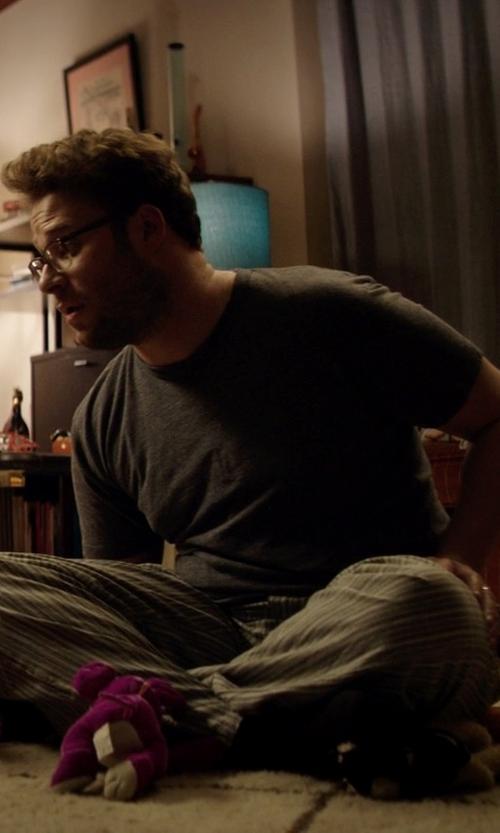 Seth Rogen with Derek Rose Men's Crew Neck Knit Lounge T-Shirt in Neighbors