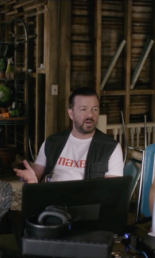 Ricky Gervais with Cutter & Buck 'Pemberton' Water Resistant Vest in Special Correspondents