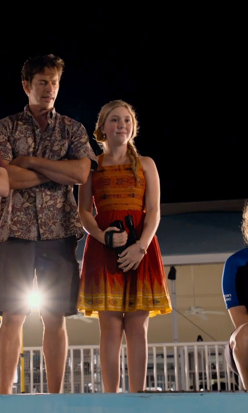 Cozi Zuehlsdorff with Angie Lattice Trim Print Dress in Dolphin Tale 2