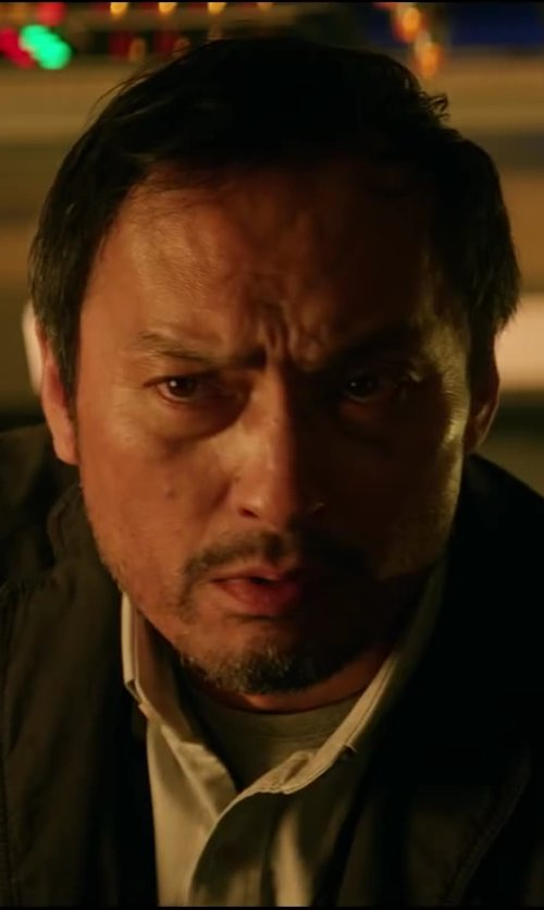 Ken Watanabe with Brooks Brothers Slim Fit Button-Down Collar Dress Shirt in Godzilla