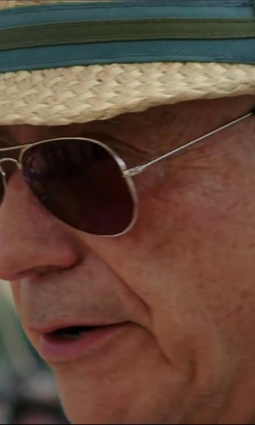 Alan Arkin with Oliver Peoples Benedict Aviator Sunglasses in Million Dollar Arm