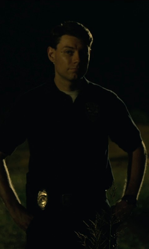 Patrick Fugit with Rothco Military Embroidered Army Military Polo Golf Shirts in Gone Girl