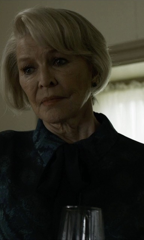 Jayne Atkinson with Paul & Joe Houleux Printed Silk-Georgette Blouse in House of Cards