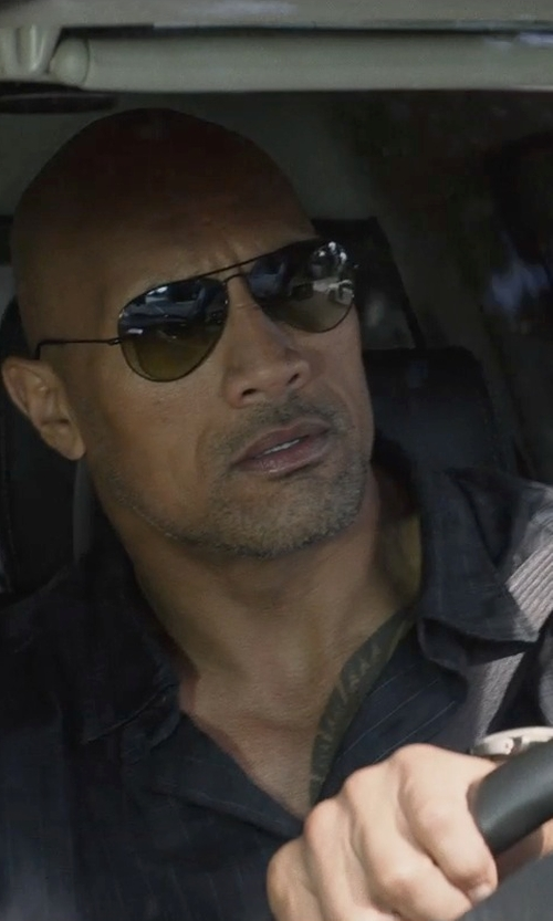 Dwayne Johnson with Scuderia Ferrari Chronograph Leather Strap Watch in San Andreas