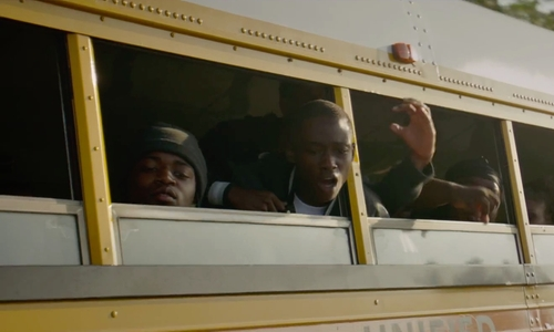 Unknown Actor with Crown Supercoach Bus in Straight Outta Compton