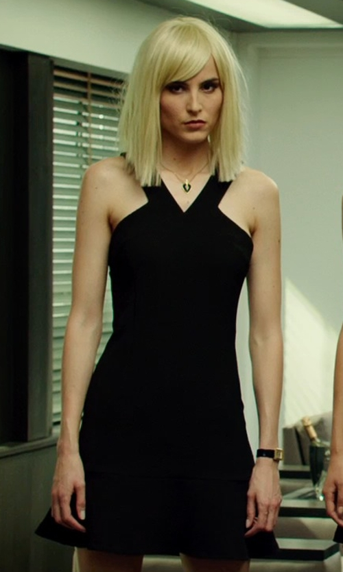 Loan Chabanol with Christopher Kane Crepe Cut-Out Dress in The Transporter: Refueled