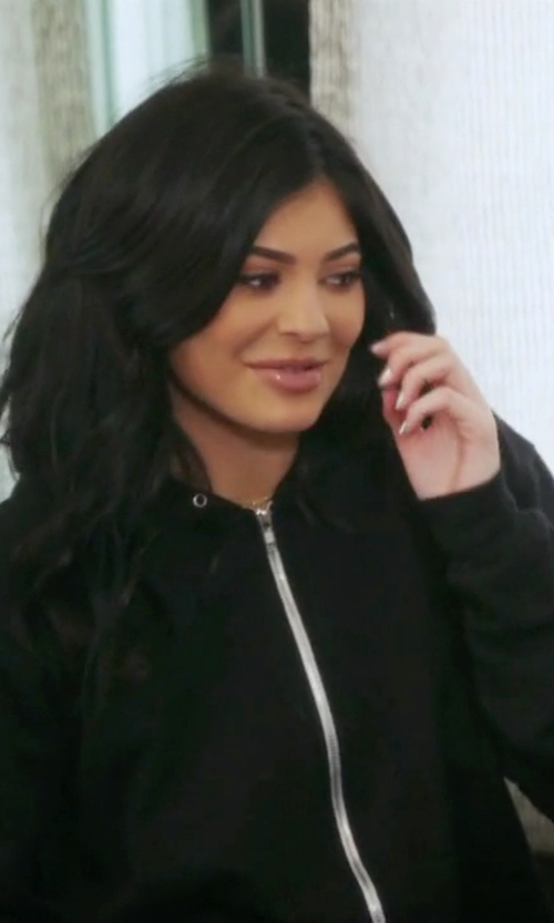 Kylie Jenner with Drifter Revere Mesh Panel Hoodie in Keeping Up With The Kardashians