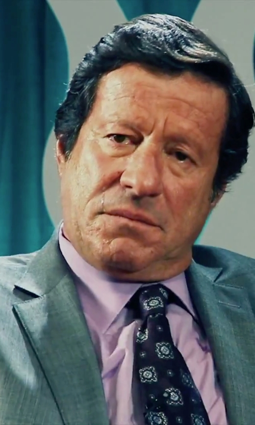 Joaquim de Almeida with Alara Modern Width Purple Vine Medallion Silk Tie in Our Brand Is Crisis