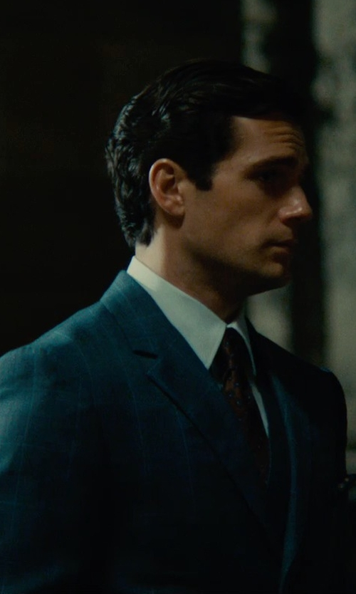 Henry Cavill with Timothy Everest Custom Made Windowpane Suit in The Man from U.N.C.L.E.