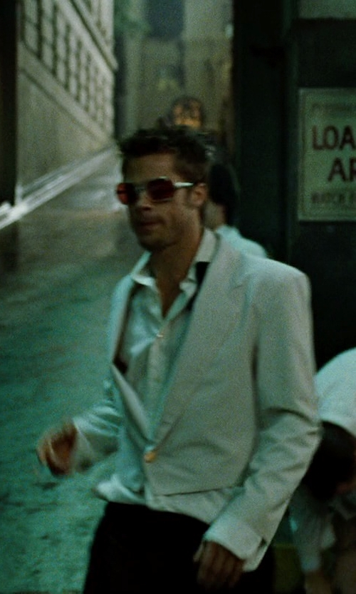 Brad Pitt with Brioni Cotton Shirt in Fight Club