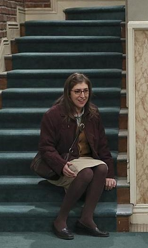 Mayim Bialik with Tignanello Leather Small Crossbody Bag in The Big Bang Theory