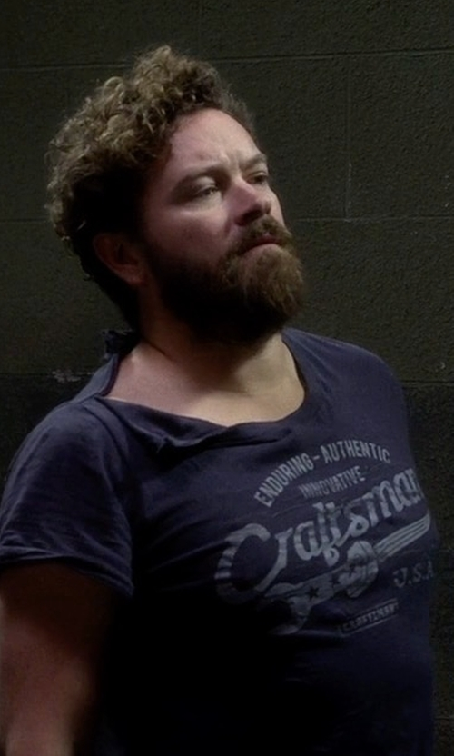 Danny Masterson with Craftsman Tools USA Enduring Authentic Graphic Tee in The Ranch