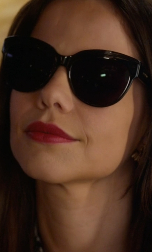 Tammin Sursok with Elizabeth and James Suffolk Cat-Eye Sunglasses in Pretty Little Liars