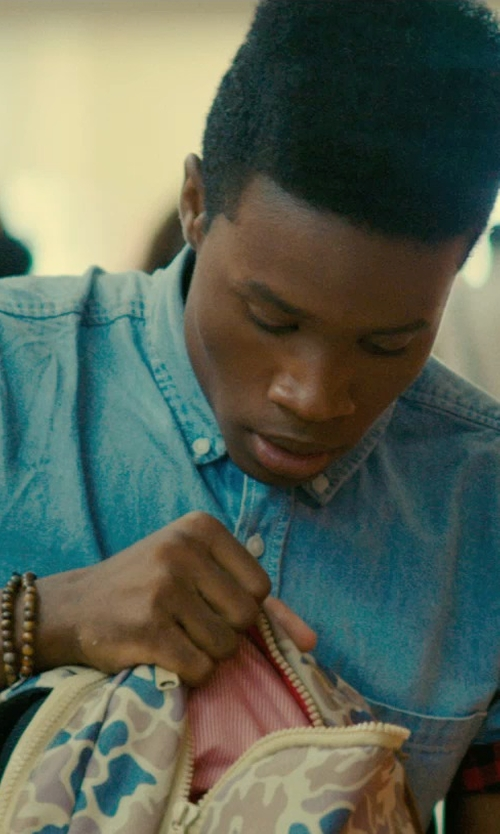 Shameik Moore with Urban Outfitters Double Brown Beaded Bracelet in Dope