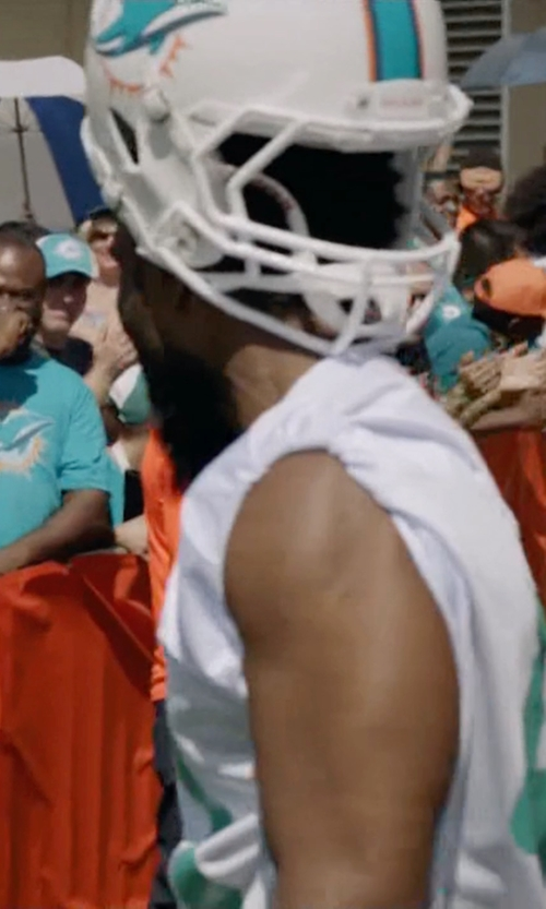 John David Washington with Riddell Miami Dolphins NFL Football Helmet in Ballers