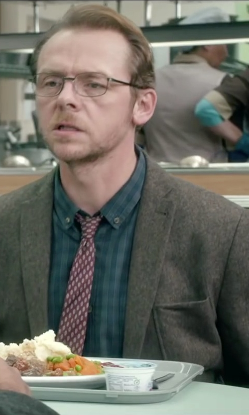 Simon Pegg with Kroon Harrison Tweed Sport Coat in Absolutely Anything
