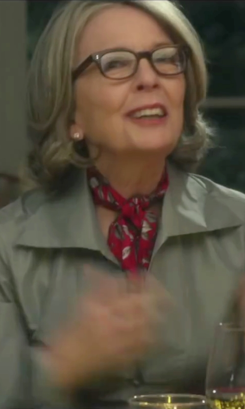 Diane Keaton with Tory Burch Large T Logo Stud Earrings in Love the Coopers