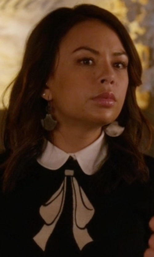 Janel Parrish with Bluma Project Uma Earrings in Pretty Little Liars