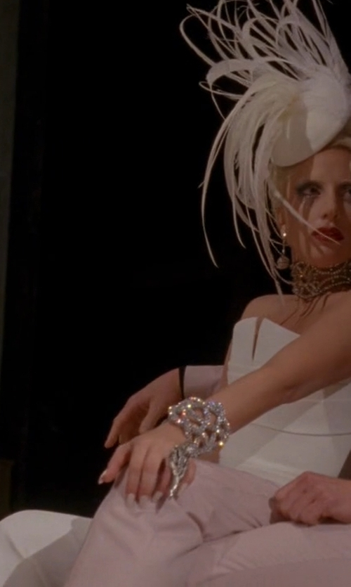 Lady Gaga with BCBGmaxazria Alyse Strapless Overlay Gown in American Horror Story