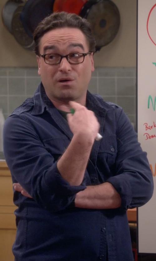 Johnny Galecki with American Rag Cadet Shirt in The Big Bang Theory