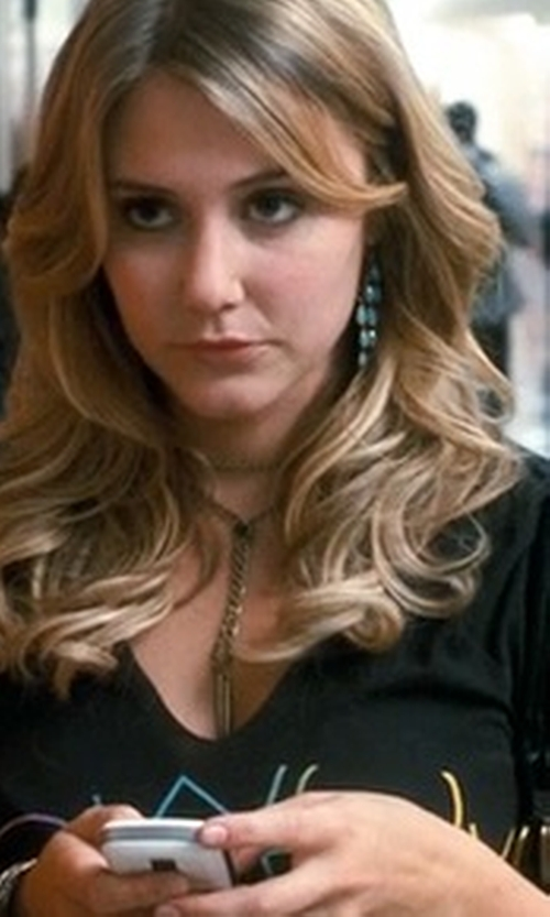 Julianna Guill with Converse Warhol Banana V-Neck Tee in Crazy, Stupid, Love.