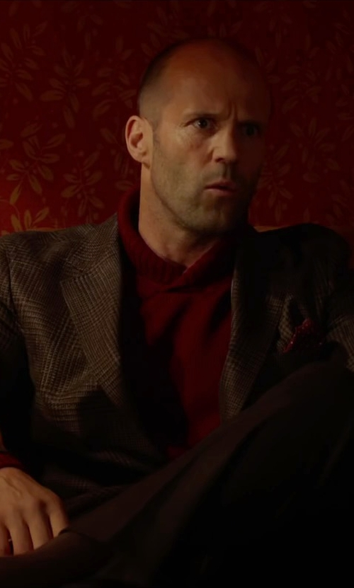 Jason Statham with Gucci Cotton Twill Casual Pants in Spy