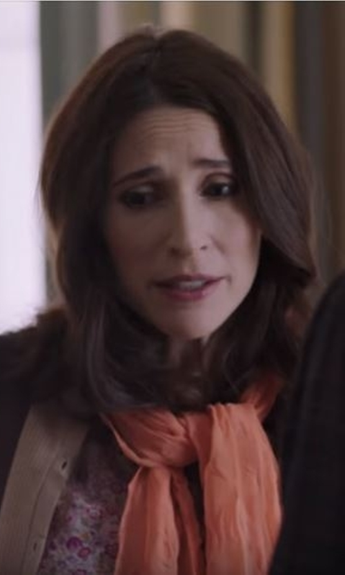 Michaela Watkins with Hinge Open Stitch Panel Wrap in Casual