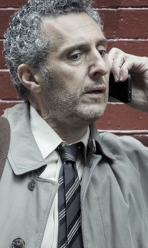 John Turturro with Lauren Ralph Lauren Twill Satin Stripe Tie in The Night Of
