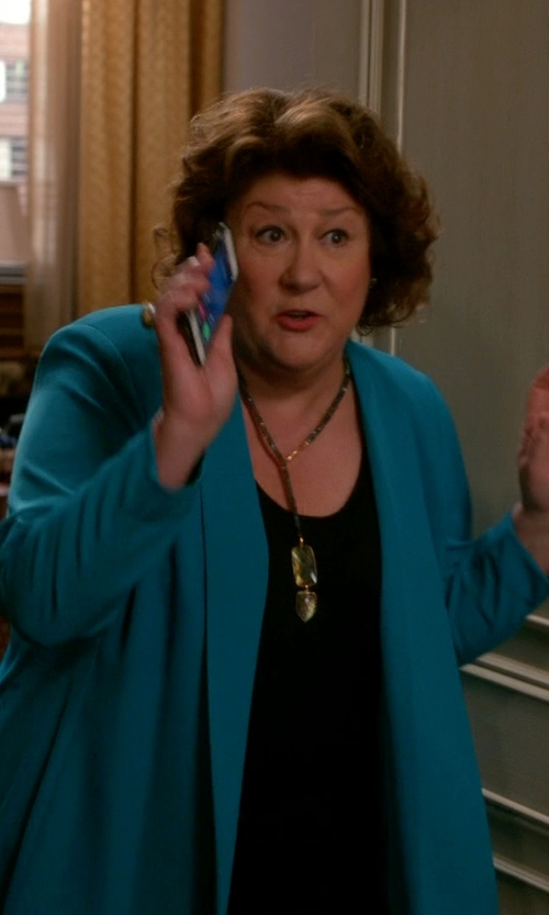 Margo Martindale with Stylus Flyaway Cardigan Sweater in The Good Wife