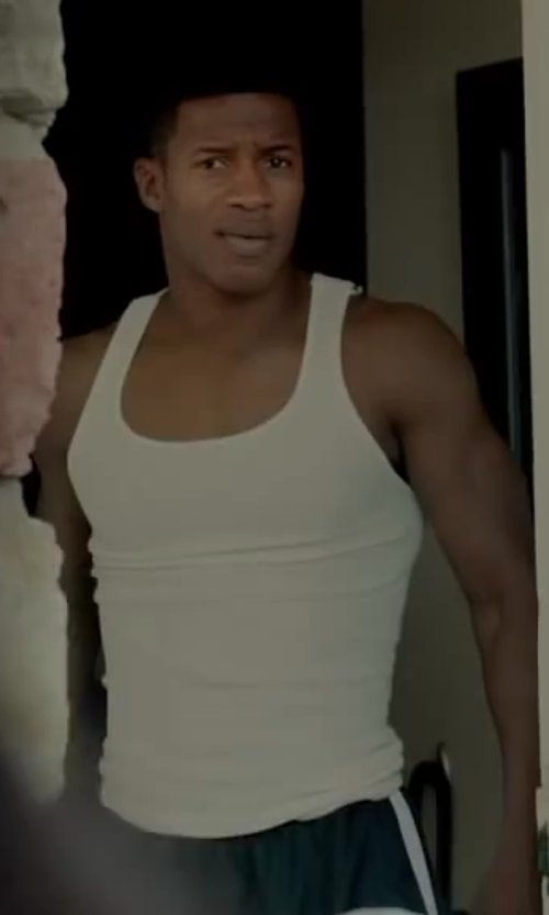 Nate Parker with SPANX Cotton Compression Tank Top in Beyond the Lights